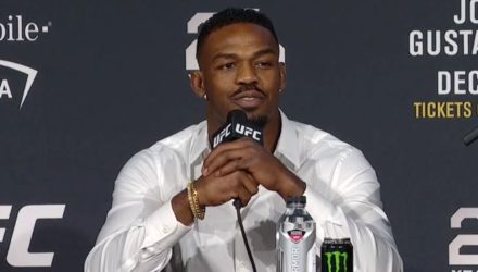 Jon Jones at the UFC 232 kickoff press conference in New York