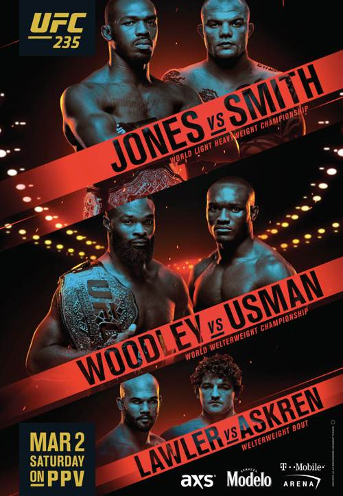 UFC 235 Jones vs Smith Fight Poster 500x