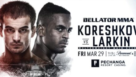Bellator Koreshkov vs Larkin Fight Poster