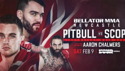 Bellator Newcastle Pitbull vs Scope fight poster