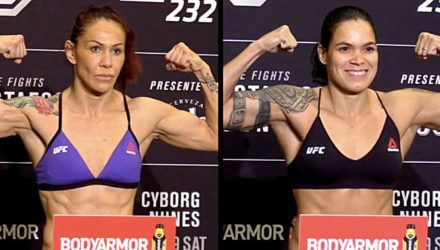 Cris Cyborg vs Amanda Nunes UFC 232 official weigh-in