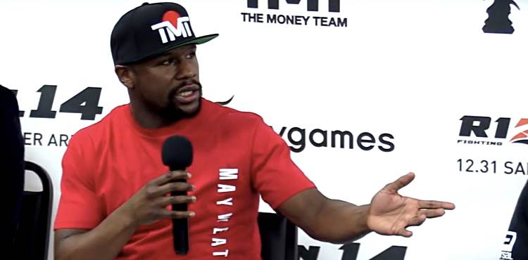 Floyd Mayweather Rizin 14 Argues with Reporter