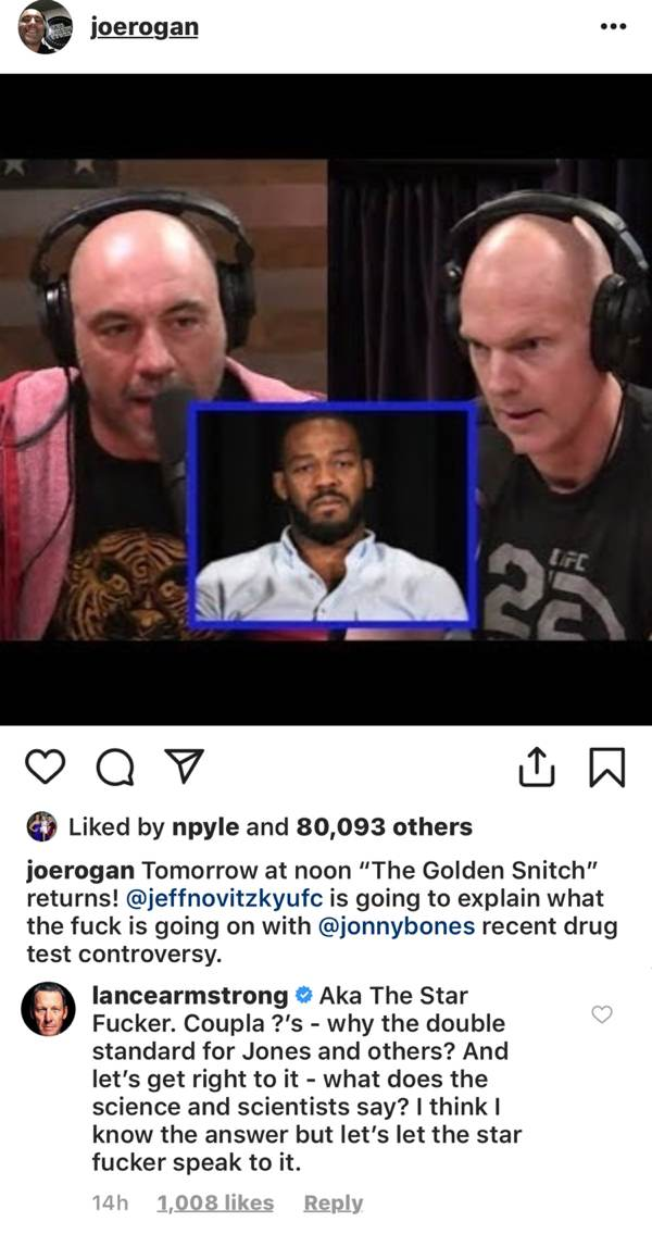 Joe Rogan - Lance Armstrong responds to Jeff Novitsky on Instagram
