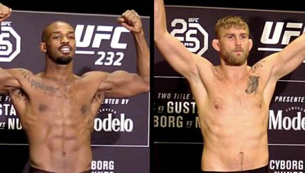 Jon Jones vs Alexander Gustafsson UFC 232 official weigh-in