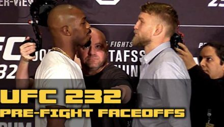 UFC 232 Jones vs Gustafsson Prefight Faceoffs