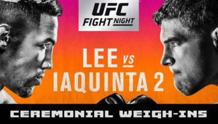 UFC on FOX 31 Lee vs Iaquinta Ceremonial Weigh-ins