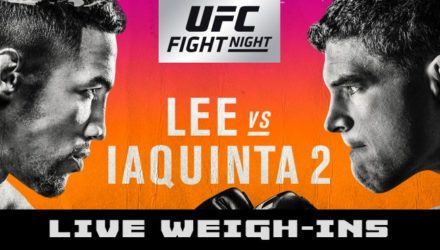 UFC on FOX 31 Lee vs Iaquinta Live Weigh-ins