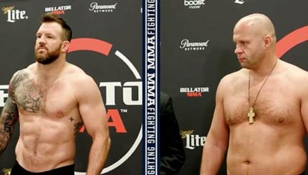 Ryan Bader vs Fedor Emelianenko Bellator 214 weigh-in