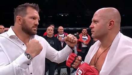 Ryan Bader vs Fedor Emelianenko faceoff