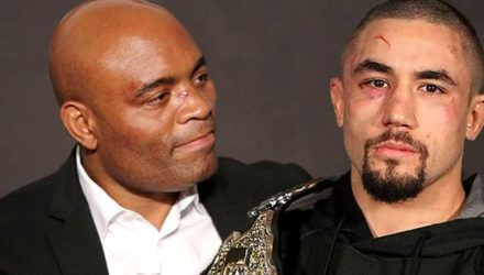 Anderson Silva and Robert Whittaker