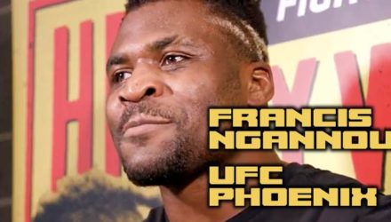 Francis Ngannou - UFC Phoenix Open Workout Scrum Video