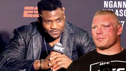 Francis Ngannou and Brock Lesnar