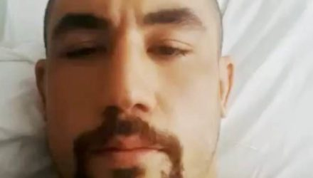 Robert Whittaker - hospital bed