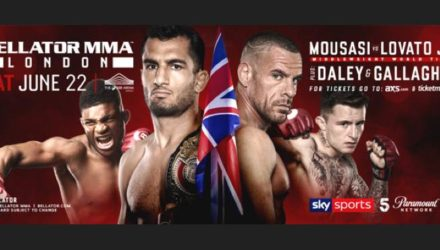 Bellator London Mousasi vs Lovato fight poster