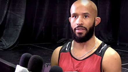 Demetrious Johnson ONE Las Vegas scrum