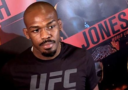Jon Jones UFC 235 workout scrum