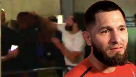 Jorge Masvidal UFC London backstage brawl