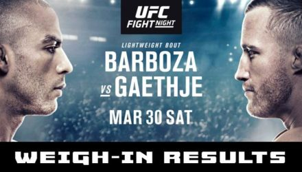 UFC Philly Barboza vs Gaethje Weigh-in Results
