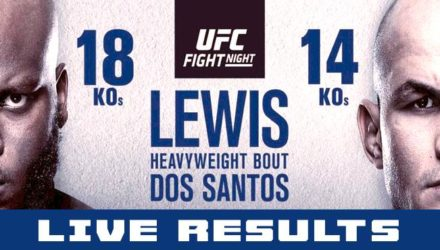 UFC on ESPN plus 4 Lewis vs dos Santos Live Results