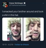 Conor McGregor - Khabib's brother tweet