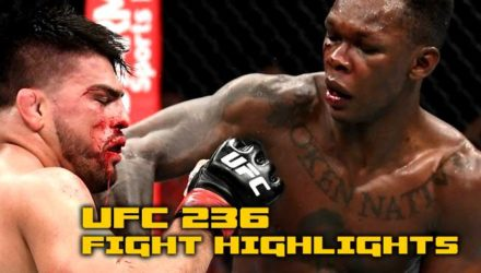 Israel Adesanya UFC 236 fight highlights