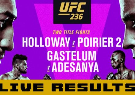 UFC 236 Holloway vs Poirier Live Results