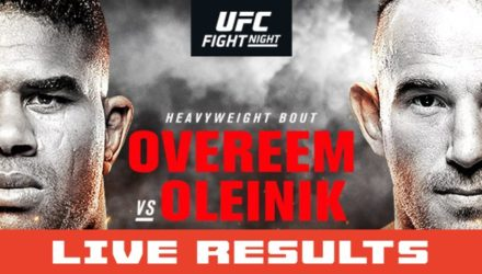 UFC St Petersburg Live Results