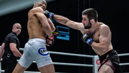 Kiamrian Abbasov stops Yushin Okami at ONE For Honor