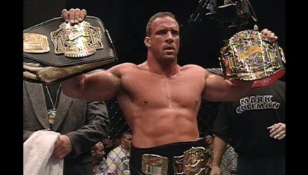 Mark Coleman with belts at UFC 12