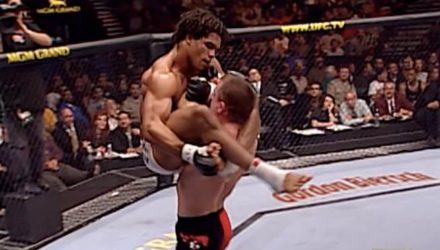 Matt Hughes slamming Carlos Newton at UFC 34