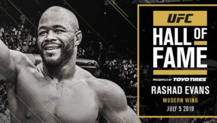 Rashad Evans 2019 UFC Hall of Fame inductee