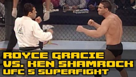 Royce Gracie vs Ken Shamrock UFC 5 superfight