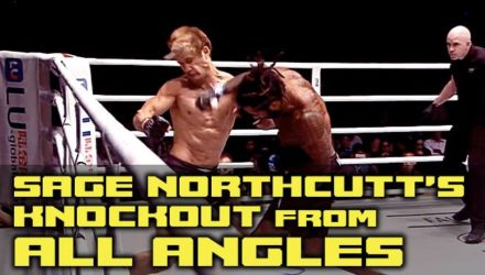 Sage Northcutt ONE debut knockout all angles