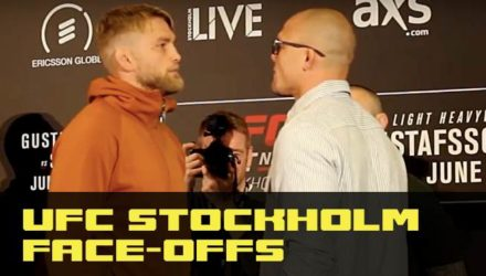 Alexander Gustafsson vs Anthony Smith at UFC Stockholm Media Day face-offs