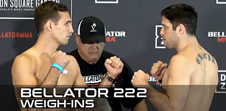 Bellator 222 Weigh-in Video