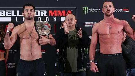 Bellator London weigh-in Gegard Mousasi vs Rafael Lovato Jr
