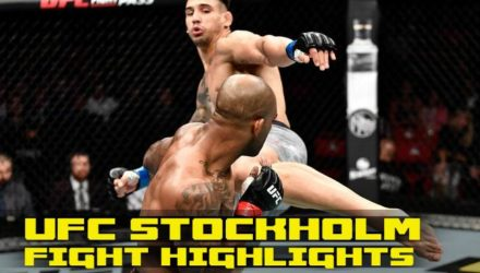 UFC Stockholm main card fight highlights
