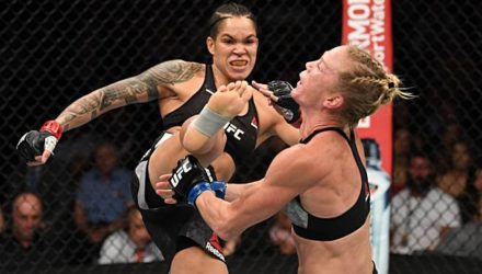 Amanda Nunes kicks Holly Holm to the face UFC 239
