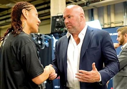 Cris Cyborg confronts Dana White at UFC 240