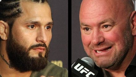 Jorge Masvidal and Dana White at the UFC 239 press conference