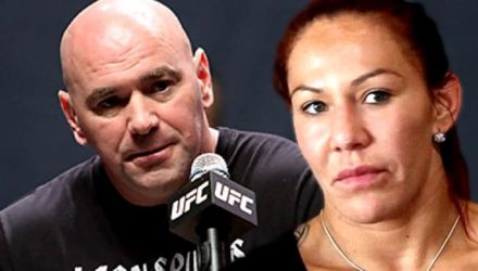 Dana White and Cris Cyborg - stern