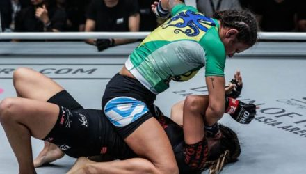 Michelle Nicolini pounds Angela Lee at ONE Masters of Destiny