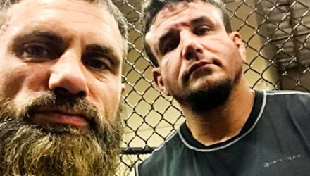Austin Aries and Frank Mir at Xtreme Couture