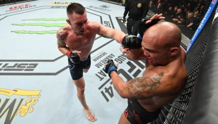 Colby Covington punches Robbie Lawler at UFC on ESPN 5