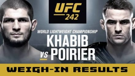 UFC 242 Khabib vs Poirier weigh-in results