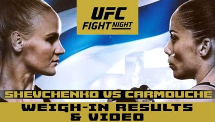 UFC on ESPN plus 14 - shevchenko vs carmouche weigh-in results and video