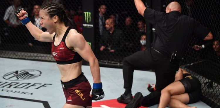 Zhang Weili defeats Jessica Andrade at UFC Shenzhen