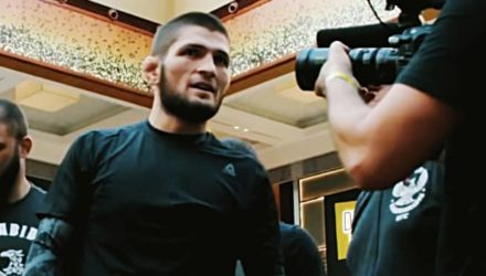Khabib Nurmagomedov at UFC 242 Open Workout