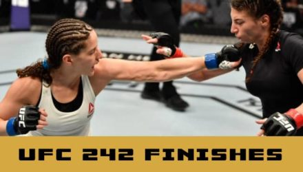 UFC 242 highlights and finishes