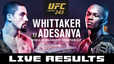 UFC 243 Whittaker vs Adesanya live results